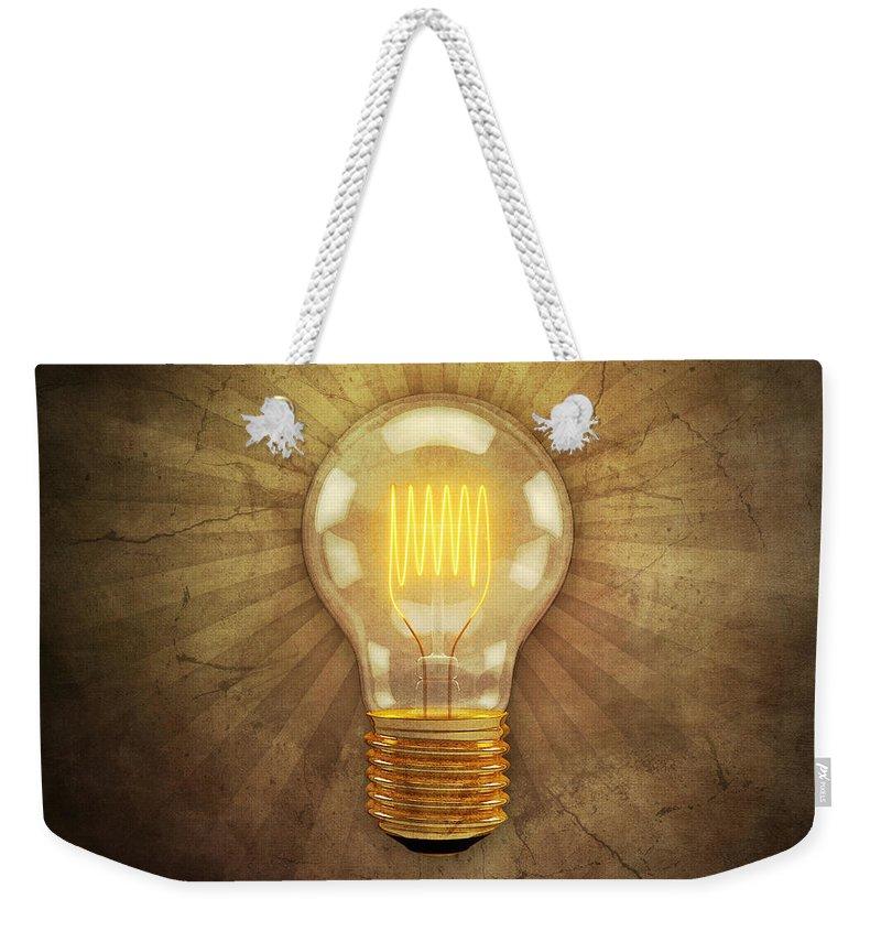 Light Beam Digital Art Weekender Tote Bags