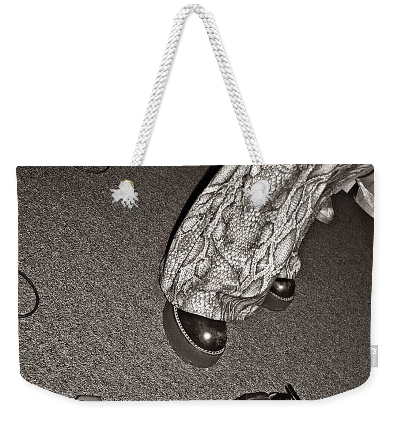 Music Weekender Tote Bag featuring the photograph Retro Night by Chris Berry