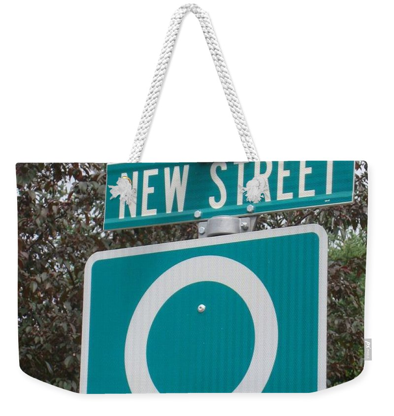 New Weekender Tote Bag featuring the photograph Sign Post by Ian Mcadie