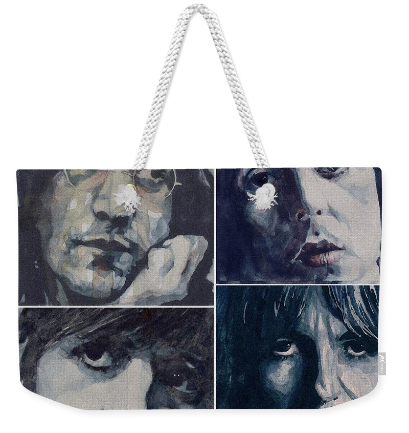 The Beatles Weekender Tote Bag featuring the painting Reunion by Paul Lovering