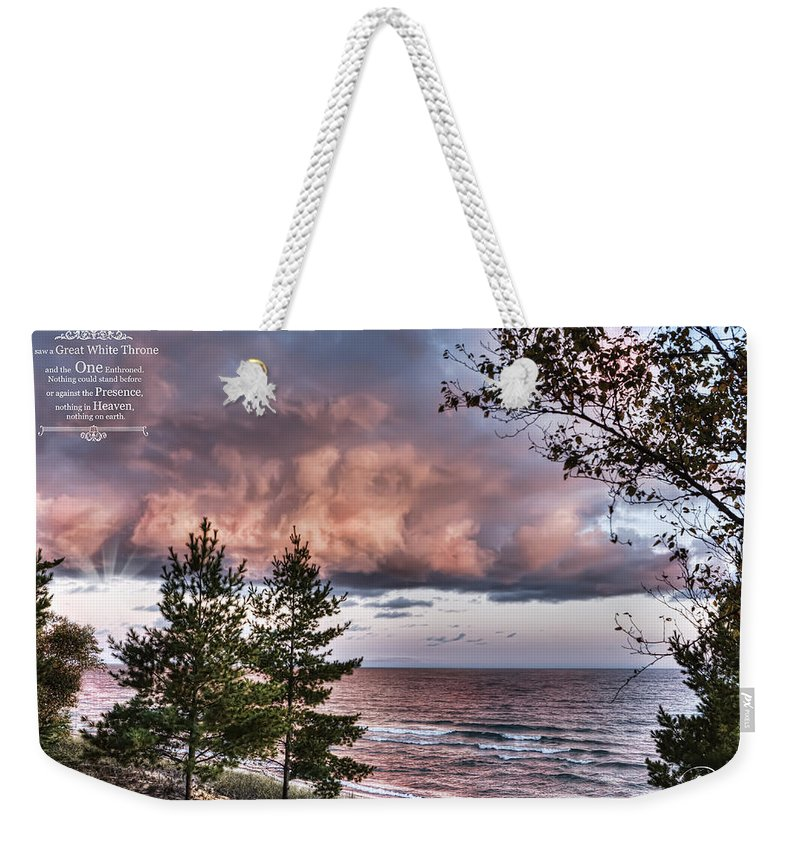 Evie Weekender Tote Bag featuring the photograph Revelation 20 by Evie Carrier