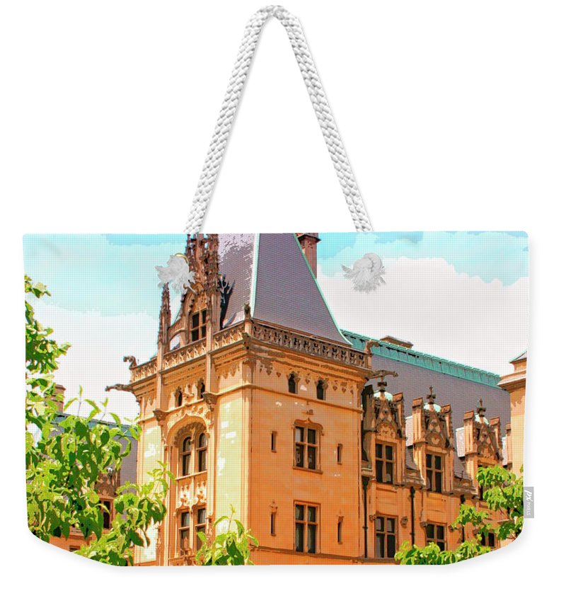 Asheville Weekender Tote Bag featuring the photograph Revival Biltmore Asheville Nc by William Dey