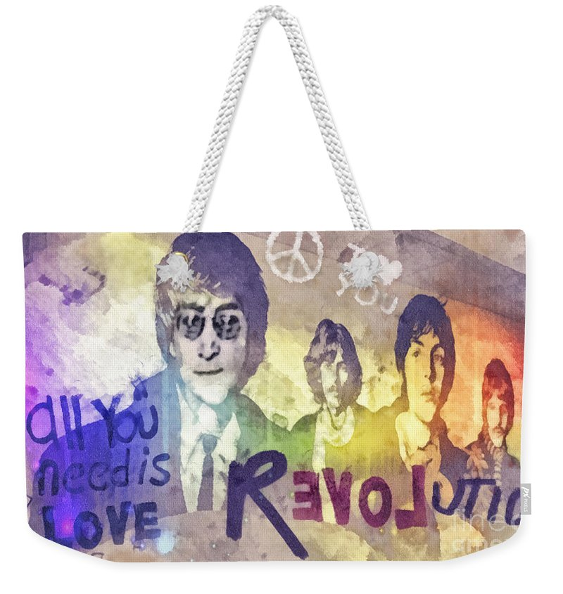 Rock N Roll George Harrison Weekender Tote Bags