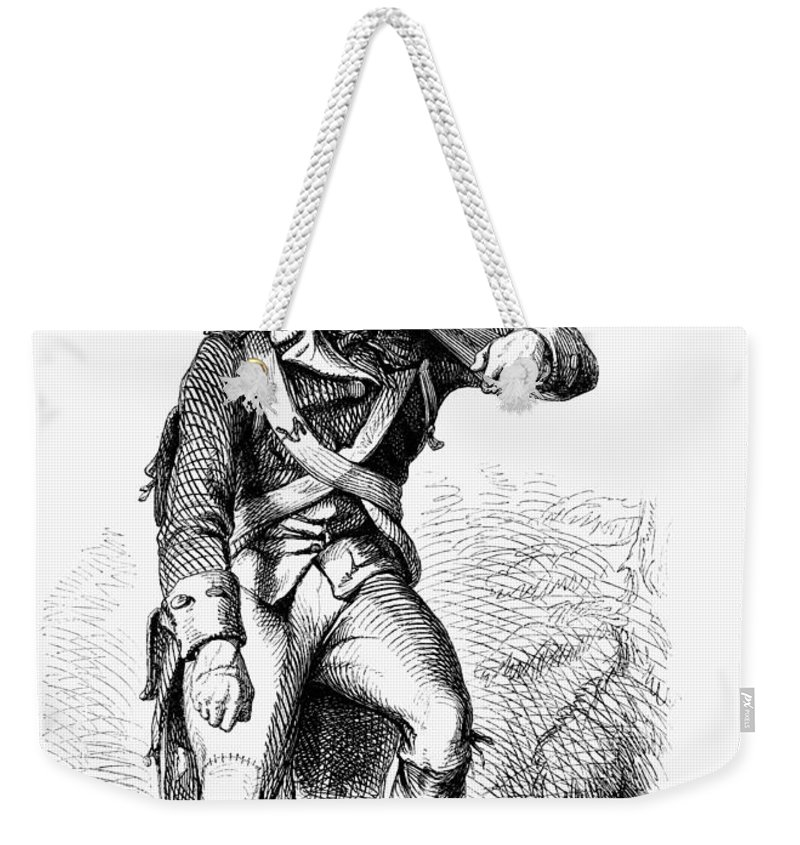 1780s Weekender Tote Bag featuring the photograph Revolutionary Soldier by Granger