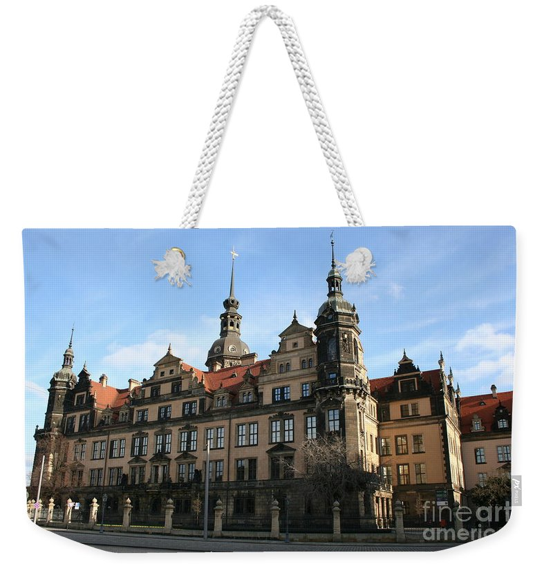 Palace Weekender Tote Bag featuring the photograph Rezidenzschloss - Dresden - Germany by Christiane Schulze Art And Photography