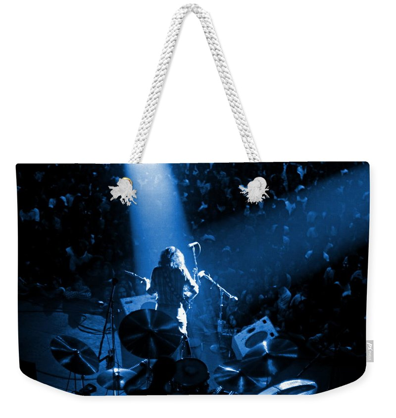 Rory Gallagher Weekender Tote Bag featuring the photograph Rg #7 In Blue by Ben Upham