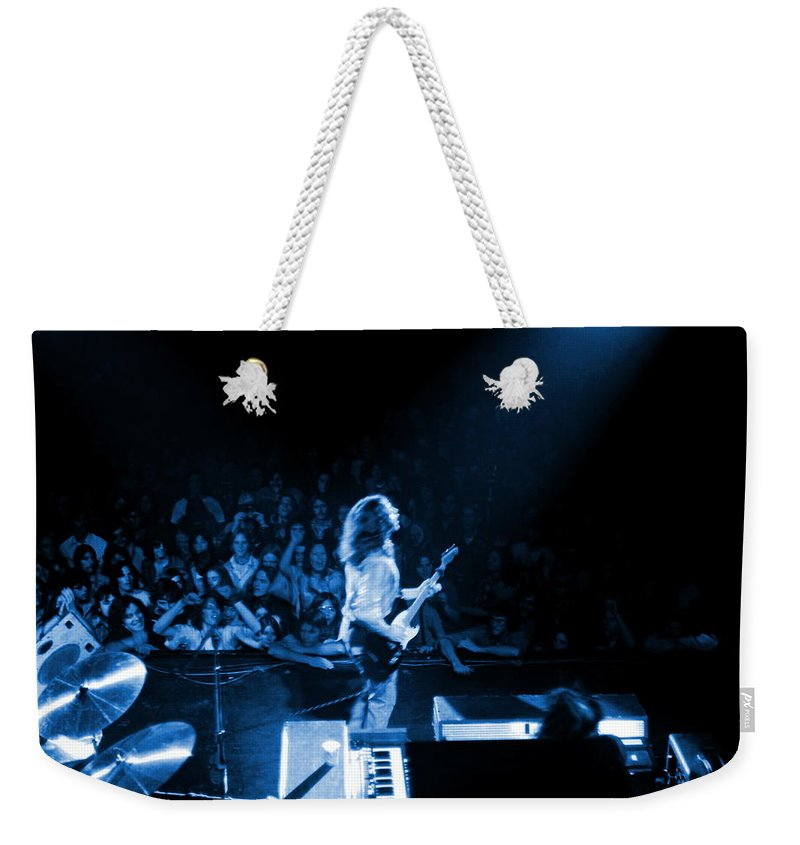 Rory Gallagher Weekender Tote Bag featuring the photograph Rg #8 In Blue by Ben Upham