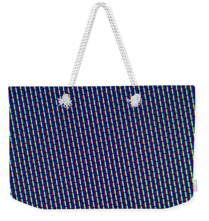 Abstract Weekender Tote Bag featuring the photograph Rgb Screen by Dan Radi