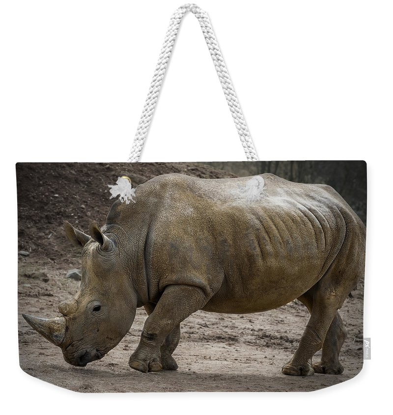 Rhinoceros Weekender Tote Bag featuring the photograph Rhinoceros by Svetlana Sewell