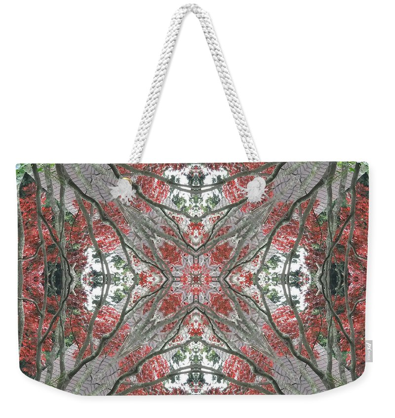 Calm Weekender Tote Bag featuring the photograph Rhode Island Garden Two by Coventry Wildeheart