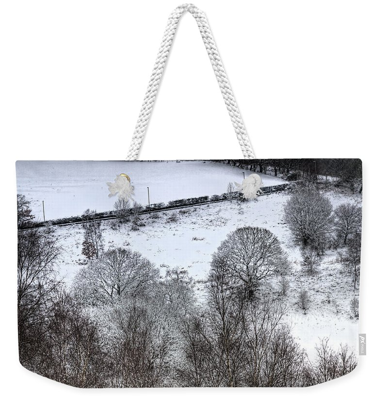 Winter Weekender Tote Bag featuring the photograph Rhymney Valley Winter 4 by Steve Purnell
