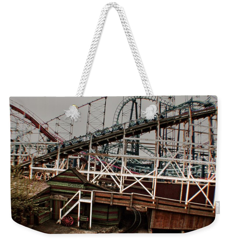 Disney Weekender Tote Bag featuring the photograph Ride The Roller Coaster by Doc Braham