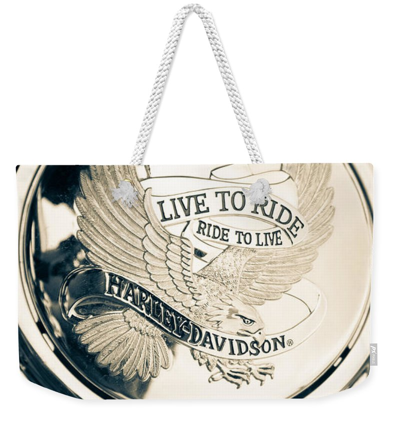 110-yr Anniversary Weekender Tote Bag featuring the photograph Ride To Live by Andrew Slater