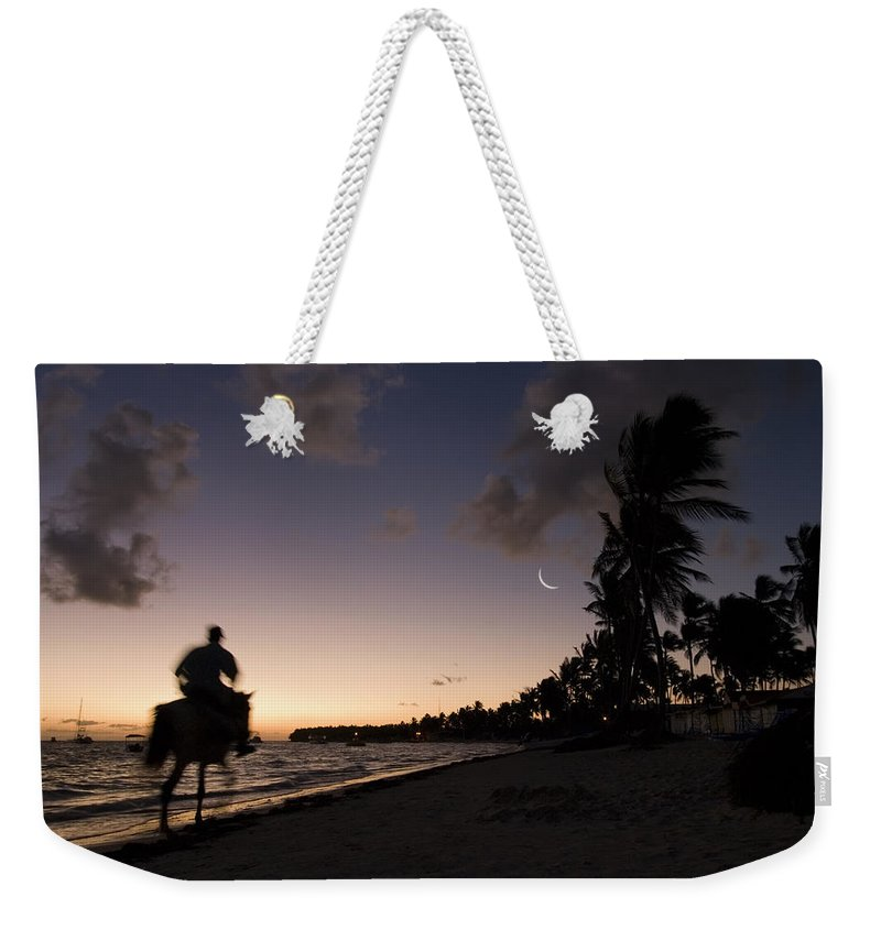 3scape Weekender Tote Bag featuring the photograph Riding On The Beach by Adam Romanowicz