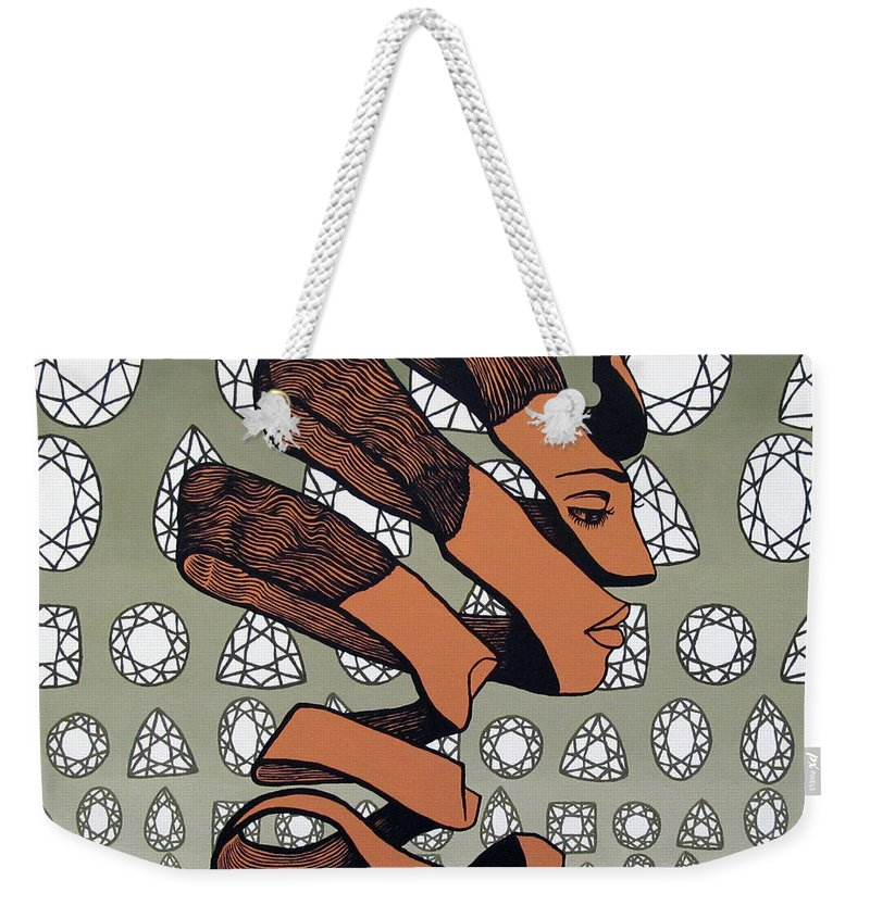 Rind Beauty Weekender Tote Bag featuring the painting Rind Beauty by Malinda Prudhomme