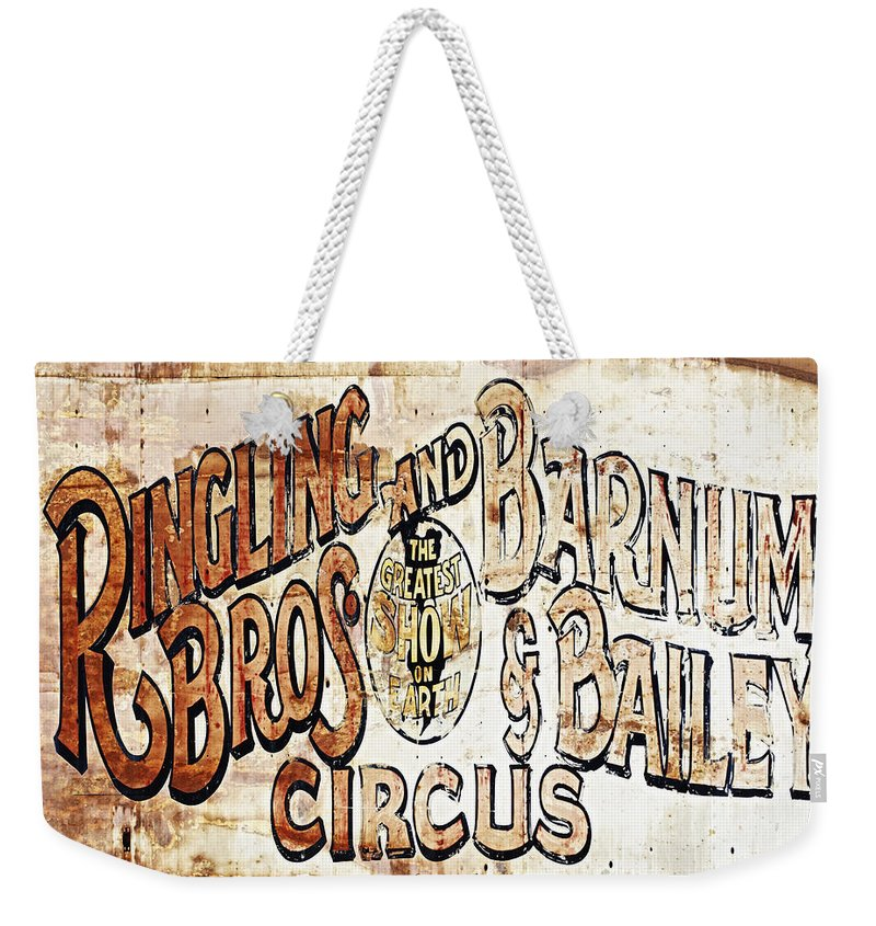 Circus History Weekender Tote Bag featuring the photograph Ringling Brothers And Barnum And Bailey Circus by Skip Nall