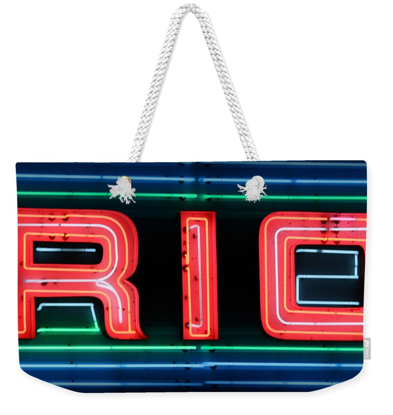 Rio Weekender Tote Bag featuring the photograph Rio At Night by Lynn Sprowl
