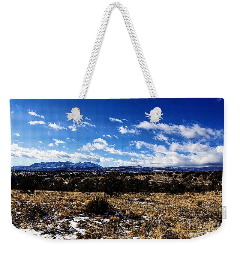 Rio Grande River Weekender Tote Bag featuring the photograph Rio Grande River Canyon-arizona V2 by Douglas Barnard