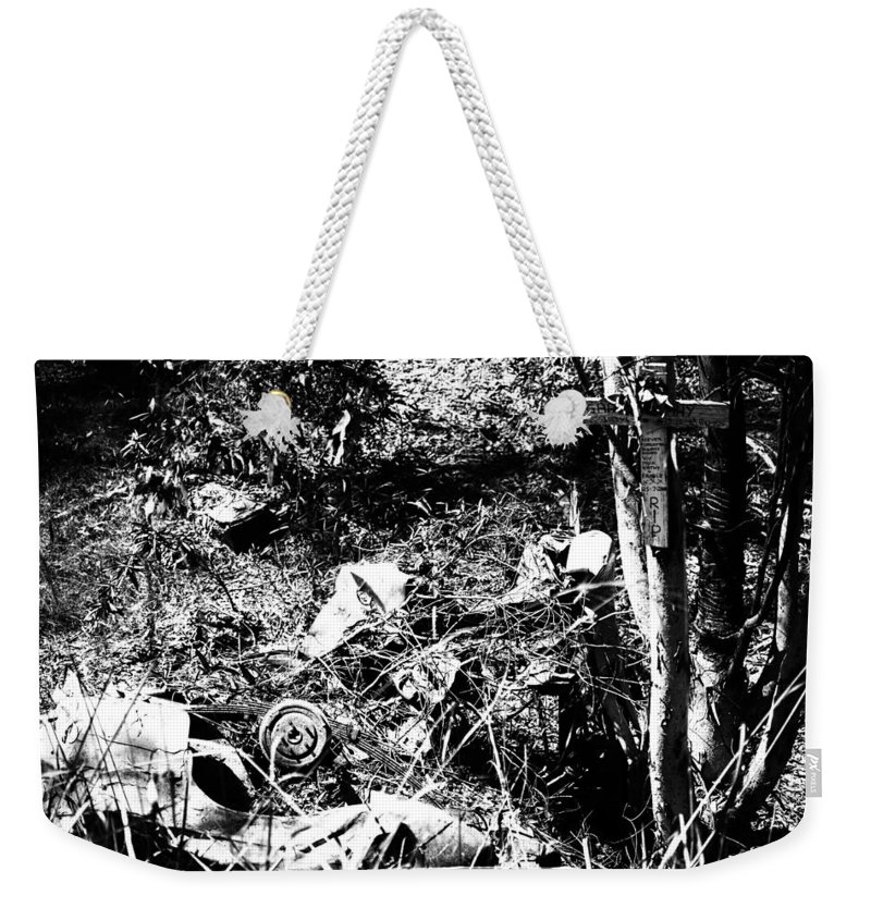 Rest-in-peace Weekender Tote Bag featuring the photograph RIP by Douglas Barnard