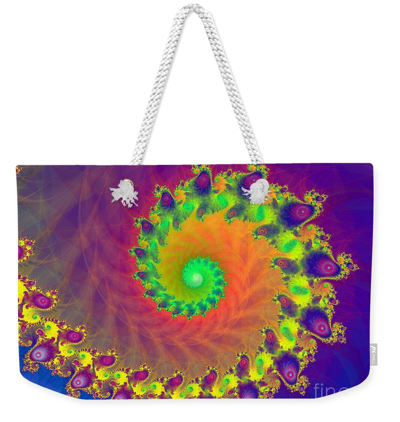 2-dimensional Weekender Tote Bag featuring the digital art Ripple by Dana Haynes
