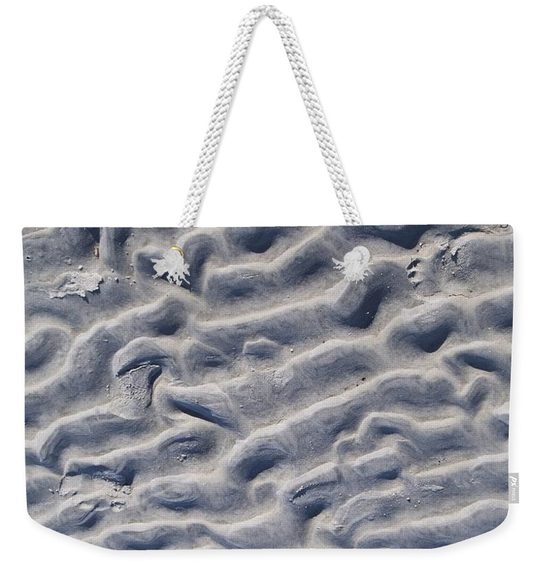 Beach Weekender Tote Bag featuring the photograph Ripples In The Sand And Surf by Eric Schiabor