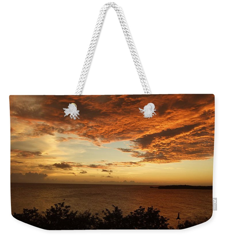 Weekender Tote Bag featuring the photograph Ripples In The Sky by Katerina Naumenko