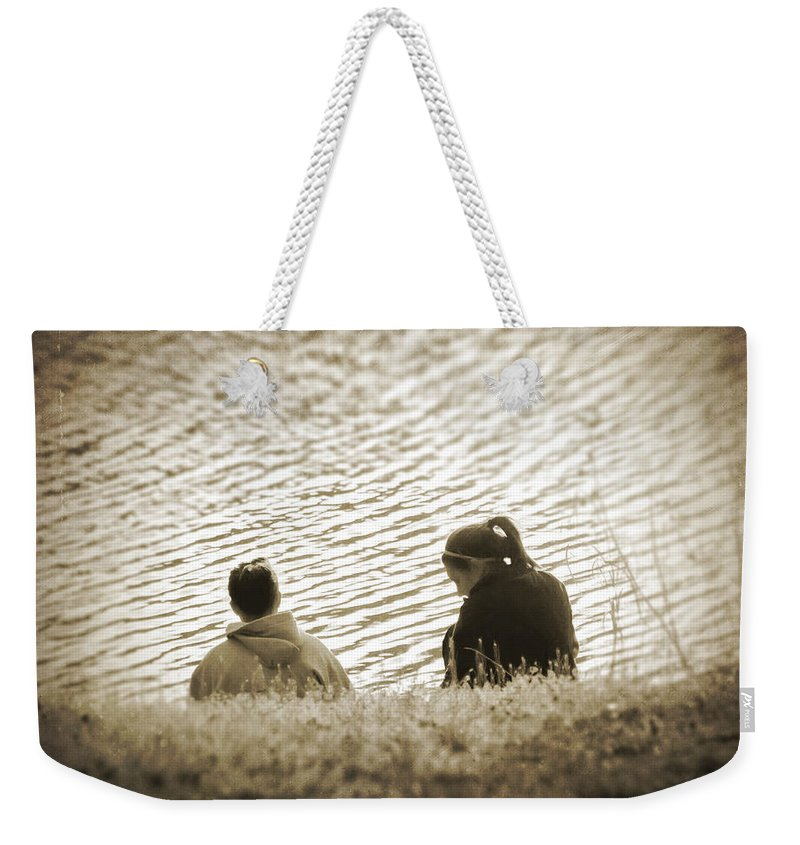 2d Weekender Tote Bag featuring the photograph Ripples In Time by Brian Wallace