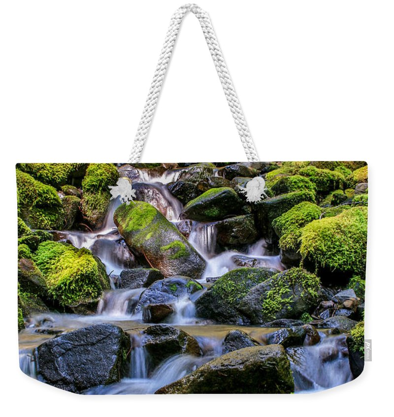 Gigimarie Weekender Tote Bag featuring the photograph Rippling Rainforest by Gina Herbert