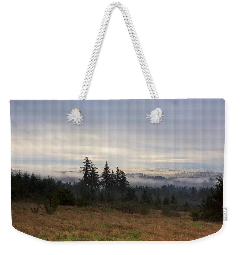 Art Weekender Tote Bag featuring the photograph Rising From The Mist by Belinda Greb
