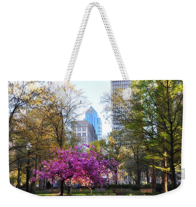 Rittenhouse Weekender Tote Bag featuring the photograph Rittenhouse Square In Springtime by Bill Cannon