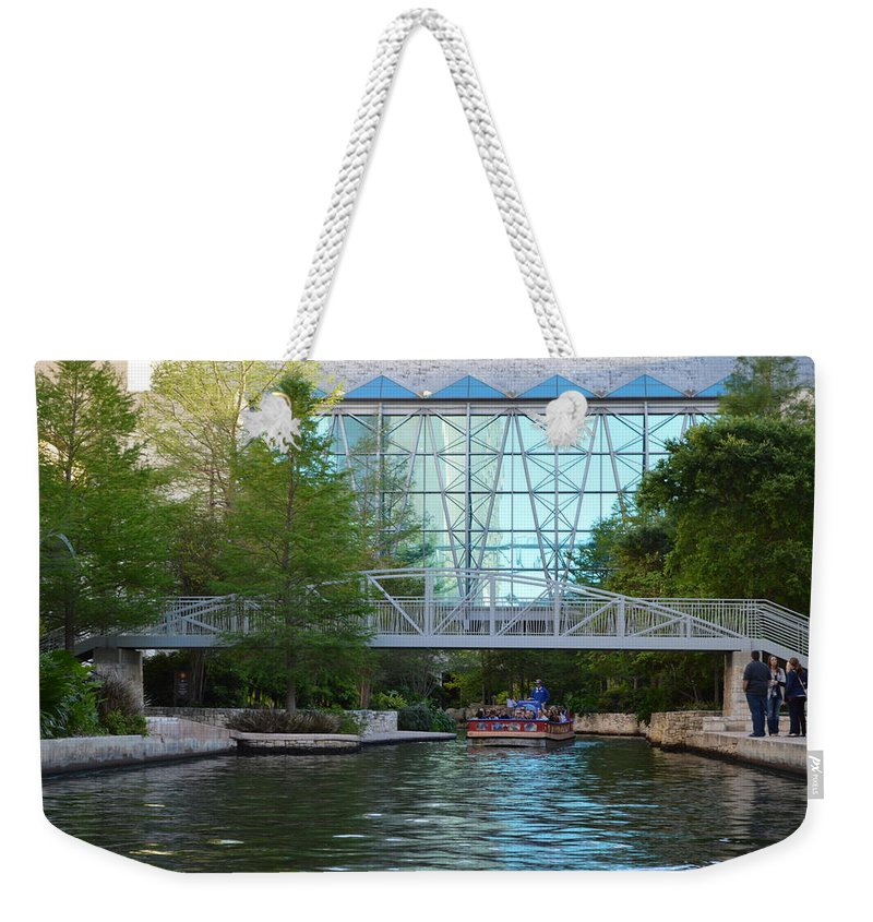 Architecture Weekender Tote Bag featuring the photograph River Boating by Shawn Marlow