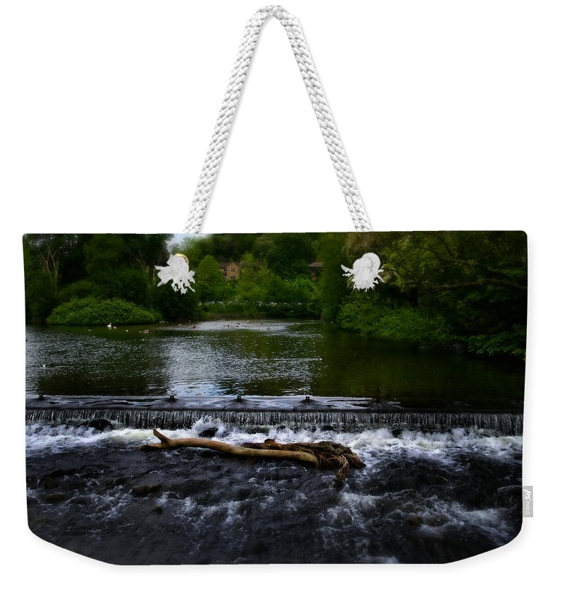 Bakewell Weekender Tote Bag featuring the photograph River Wye - In Peak District - England by Doc Braham