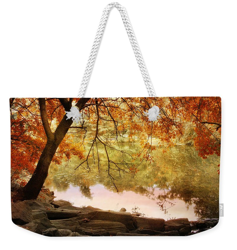 Nature Weekender Tote Bag featuring the photograph Riverbank Maple by Jessica Jenney