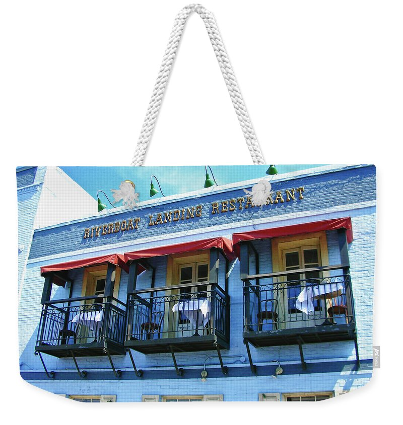 Water Street Weekender Tote Bag featuring the photograph Riverboat Landing 0769 by Guy Whiteley