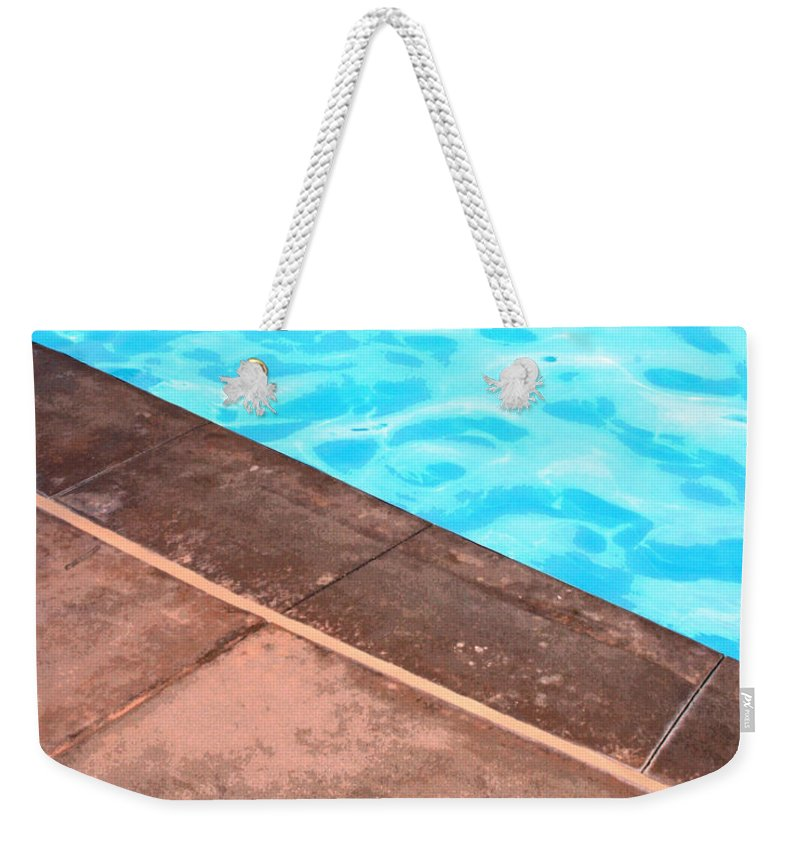 Riviera Hotel Weekender Tote Bag featuring the photograph Riviera Pool Palm Springs by William Dey