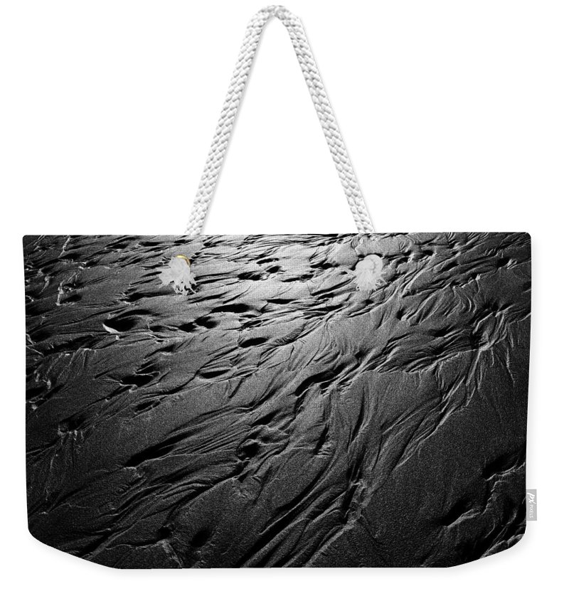 Sea Weekender Tote Bag featuring the photograph Rivulets by Steve Ball