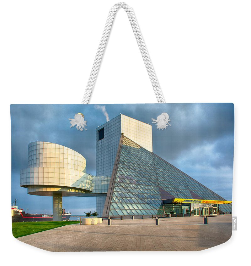 Buildings Weekender Tote Bag featuring the photograph Rock And Roll Is Here To Stay by Guy Whiteley
