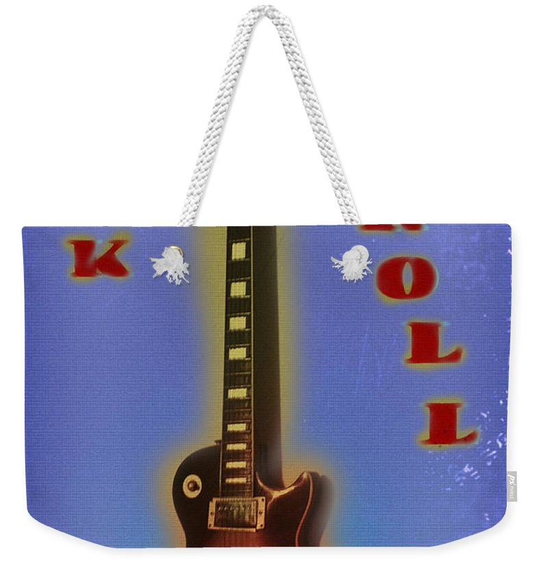 Rock Weekender Tote Bag featuring the photograph Rock And Roll - Les Paul by Bill Cannon