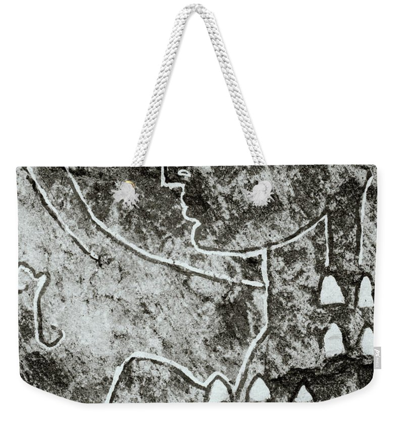 Abstract Weekender Tote Bag featuring the photograph Surreal Lady by Shaun Higson