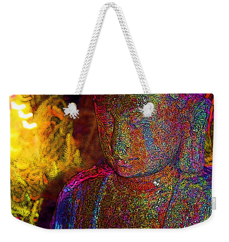 Keri West Weekender Tote Bag featuring the photograph Rock Buddha by Keri West