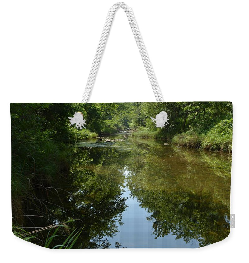 Chickasaw National Recreation Area Weekender Tote Bag featuring the photograph Rock Creek by Gale Cochran-Smith