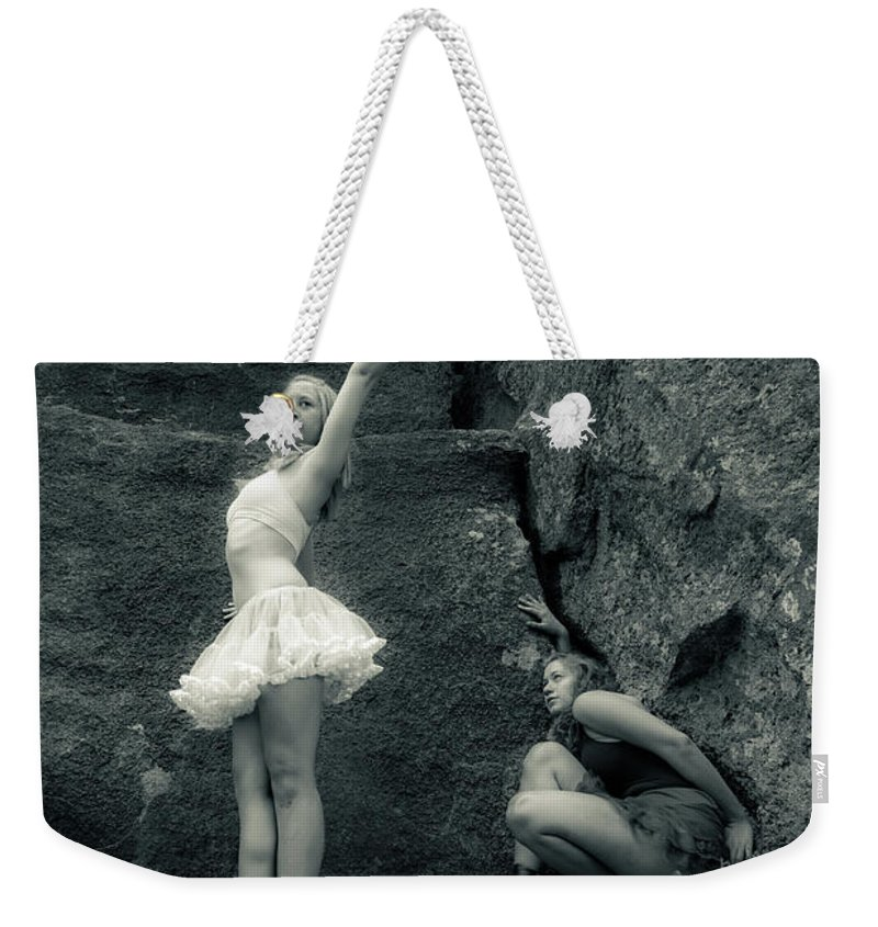 Ballet Weekender Tote Bag featuring the photograph Rock Dancing by Scott Sawyer