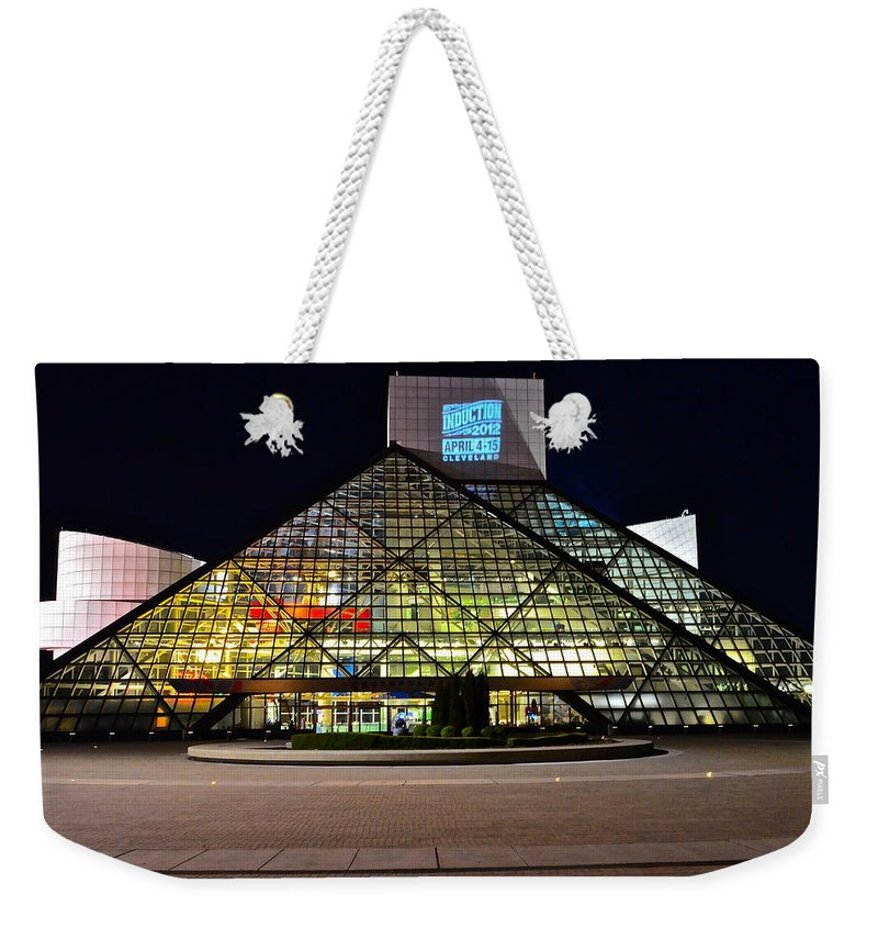 Rock And Roll Weekender Tote Bag featuring the photograph Rock n Roll hall of Fame Induction by Frozen in Time Fine Art Photography