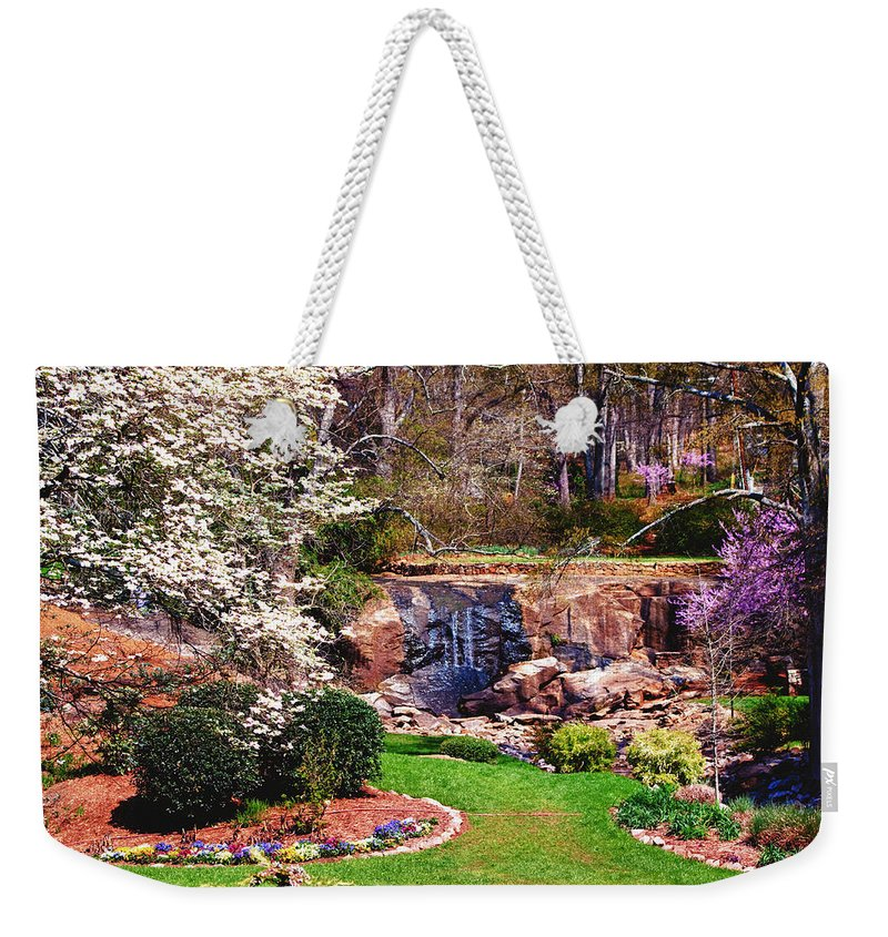 Garden Weekender Tote Bag featuring the photograph Rock Quarry Garden by Lynne Jenkins
