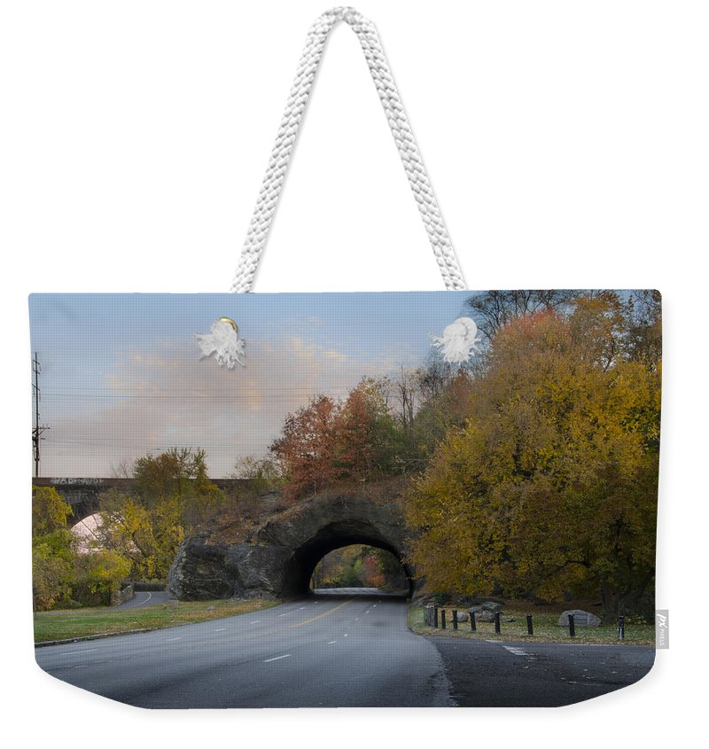 Rock Weekender Tote Bag featuring the photograph Rock Tunnel - Kelly Dive by Bill Cannon