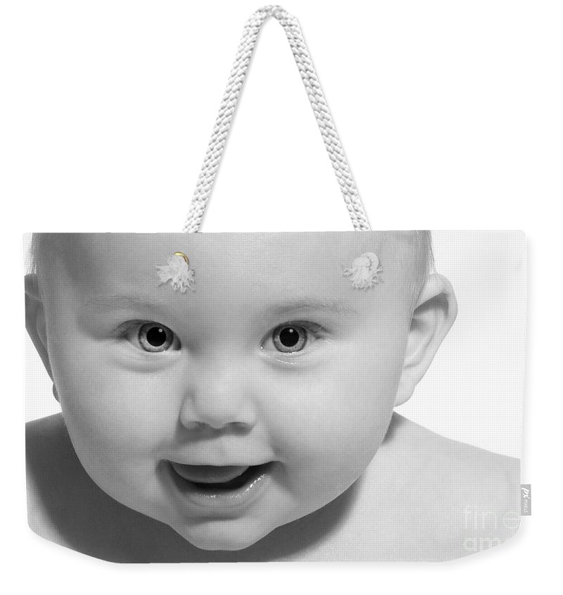 Festblues Weekender Tote Bag featuring the photograph Rockababy.. by Nina Stavlund