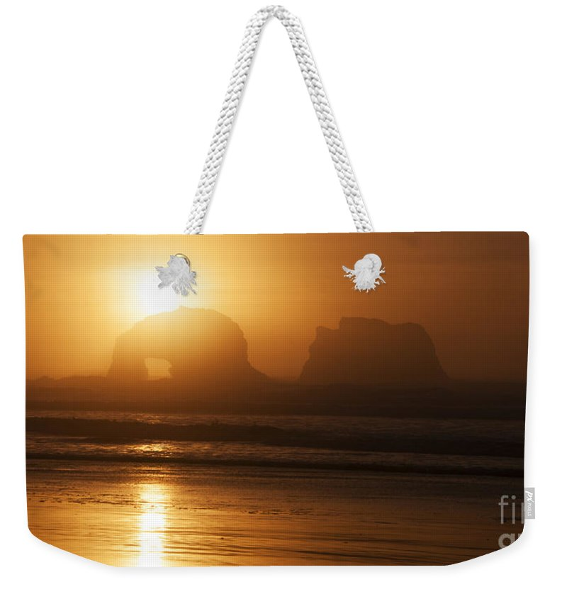 Rockaway Beach Weekender Tote Bag featuring the photograph Rockaway Beach by Vivian Christopher