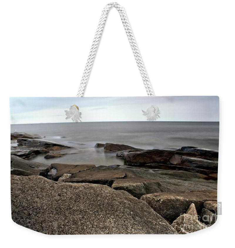 Rockport Weekender Tote Bag featuring the photograph Rockport Cove by Kenny Glotfelty