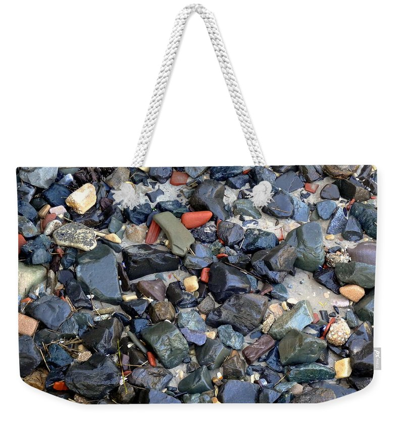 Rocks Weekender Tote Bag featuring the photograph Rocks And Stones by Deborah Crew-Johnson