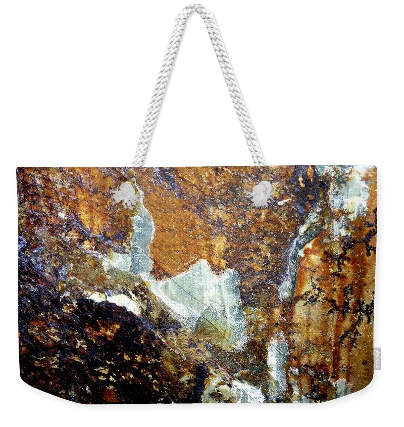 Rock Weekender Tote Bag featuring the photograph Rockscape 10 by Linda Bailey